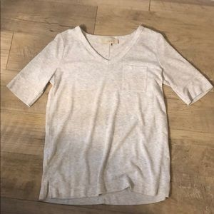 LOFT Super Soft Pocket V-neck Tee